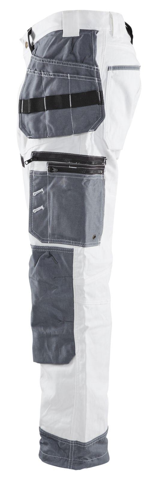 Blaklader Werkbroeken 15101210 wit-grijs(1094)