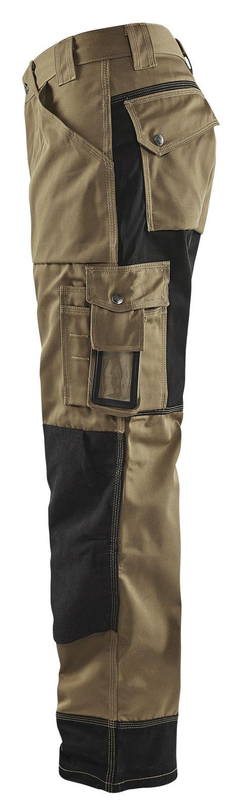 Blaklader Werkbroeken 15231860 khaki-zwart(2499)