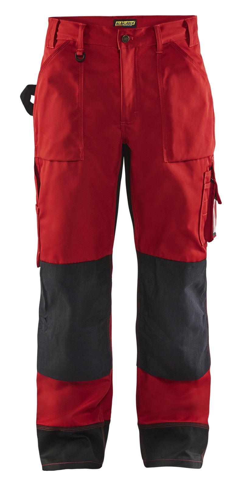 Blaklader Werkbroeken 15231860 rood-zwart(5699)