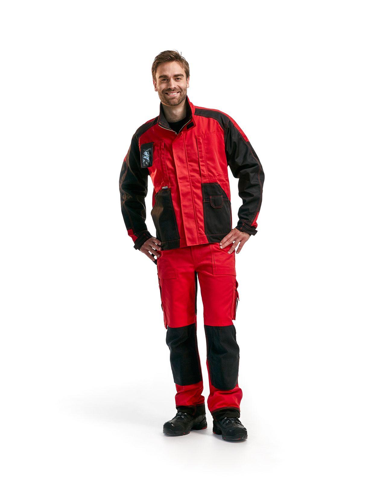 Blaklader Broeken 15231860 rood-zwart(5699)