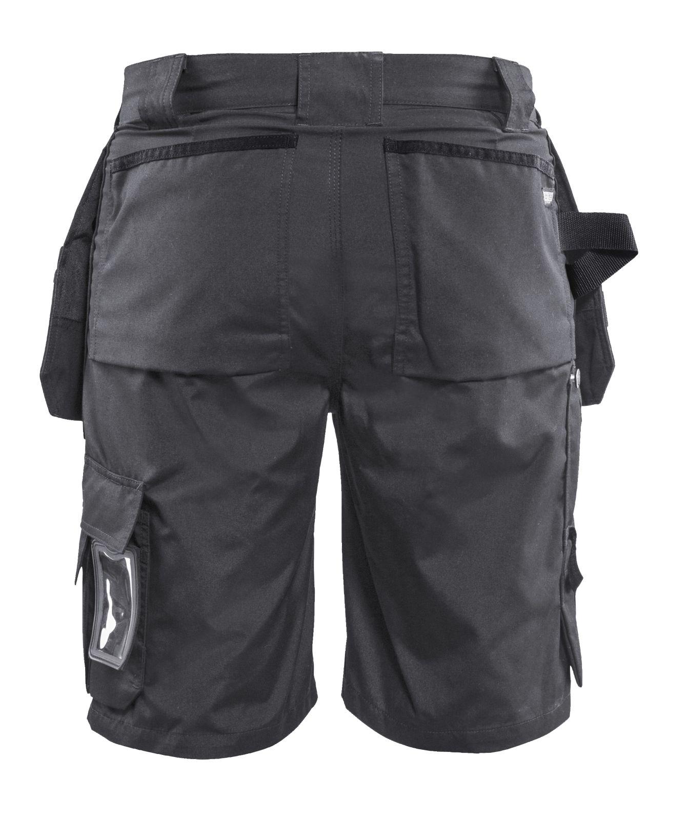 Blaklader Ambacht Zomer Korte werkbroeken- shorts 15261845 Polyester- katoen- cordura Lichtgewicht donkergrijs-zwart(9899)