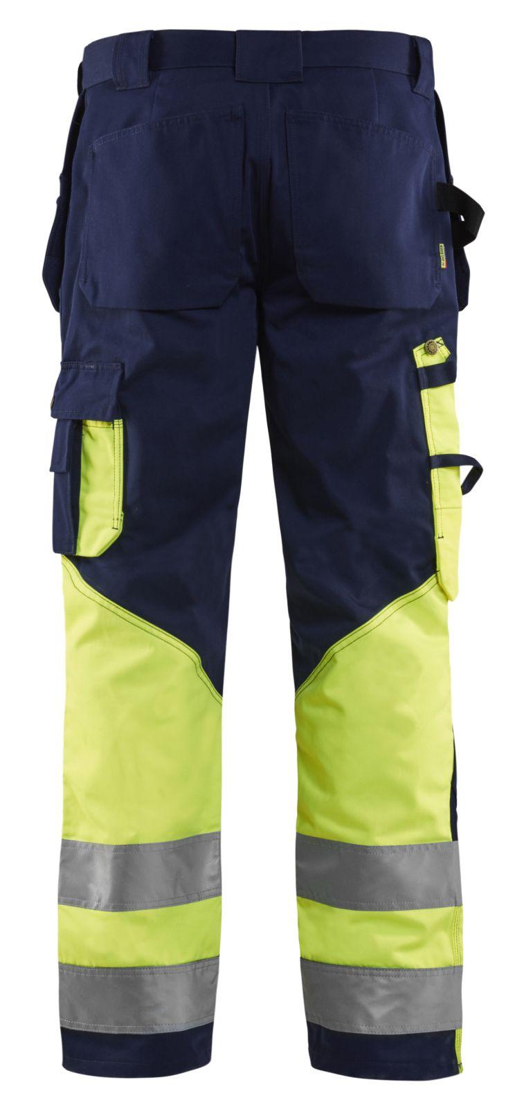 Blaklader Werkbroeken 15291370 High Vis marineblauw-geel(8833)