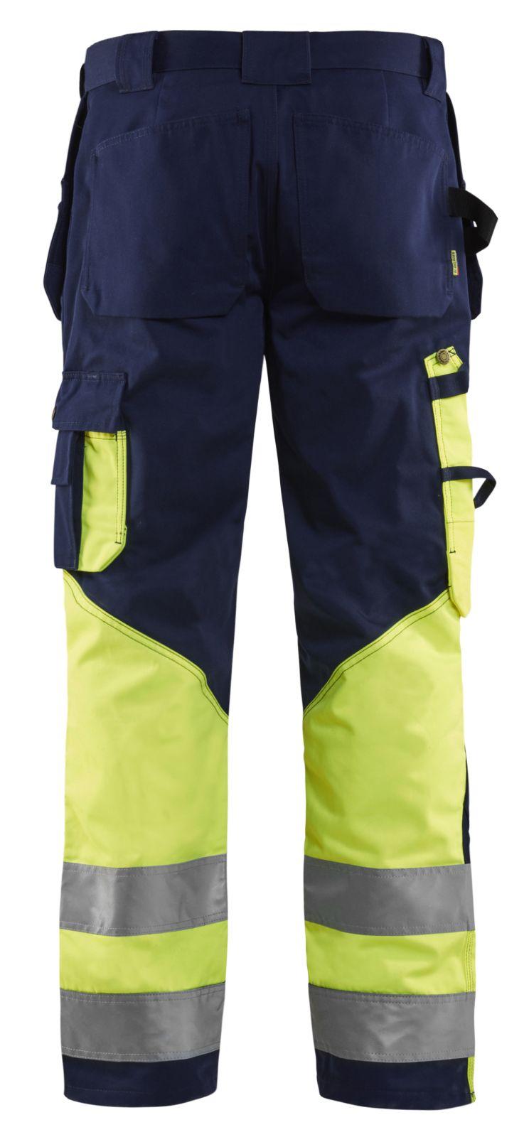 Blaklader Werkbroeken 15291860 High Vis marineblauw-geel(8933)