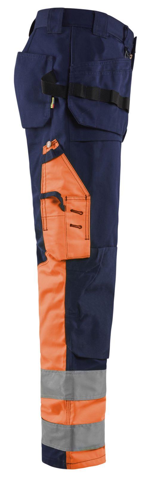 Blaklader Werkbroeken 15291860 High Vis marineblauw-oranje(8953)