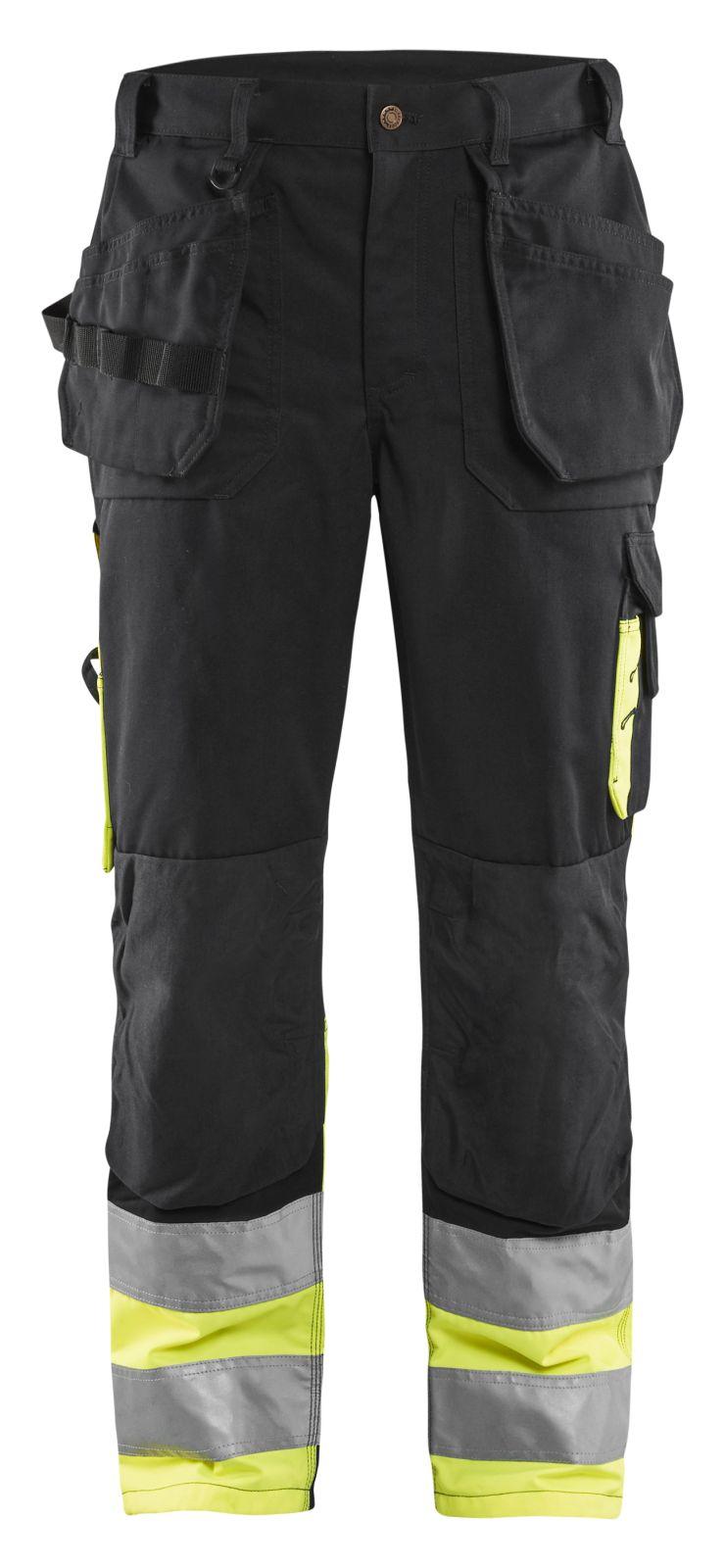 Blaklader Werkbroeken 15291860 High Vis zwart-geel(9933)