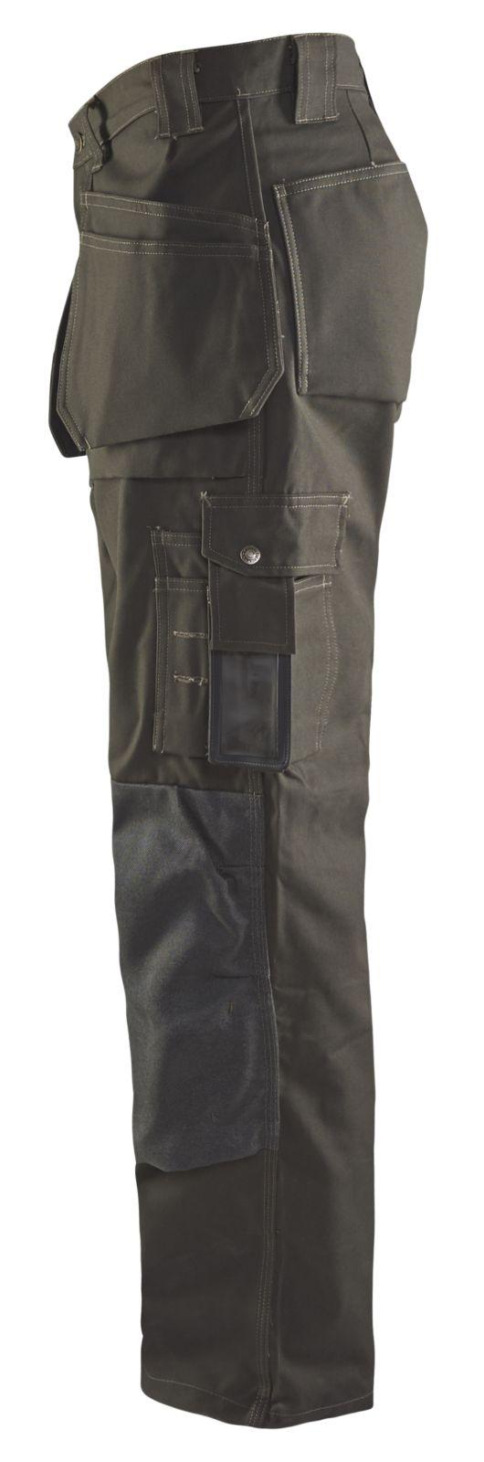 Blaklader Werkbroeken 15301145 groen-zwart(4599)