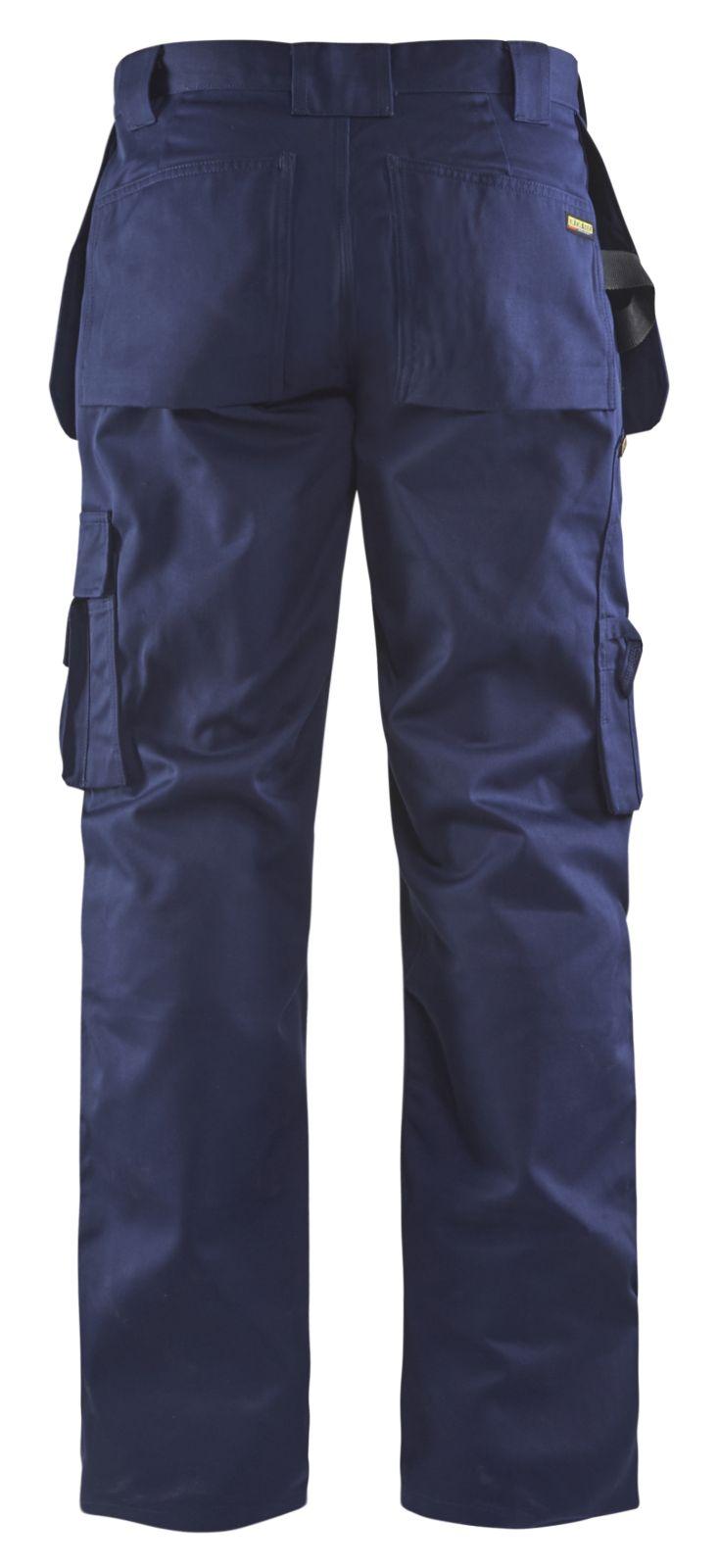 Blaklader Ambacht Werkbroeken- kniezakken- spijkerzakken 15301860 Polyester- katoen- Cordura donkerblauw(8900)