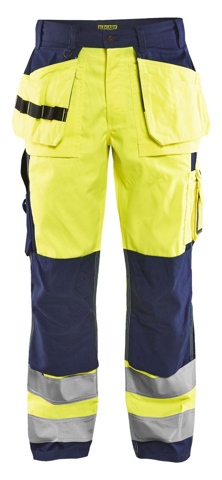 Blaklader Broeken 15331860 High Vis fluo geel-marineblauw(3389)