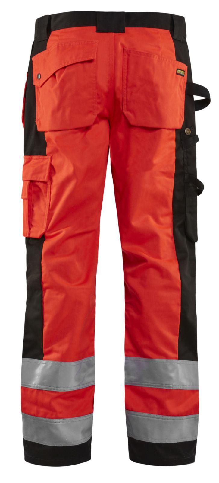 Blaklader Broeken 15331860 High Vis fluo rood-zwart(5599)