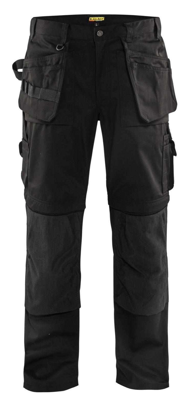 Blaklader Zip off werkbroeken 15381860 zwart(9900)