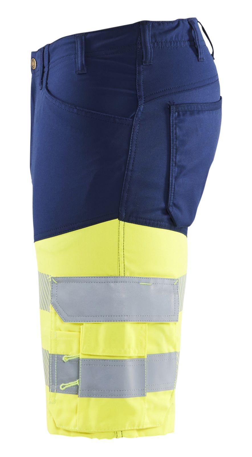 Blaklader Broeken 15411811 High Vis marineblauw-fluo geel(8933)