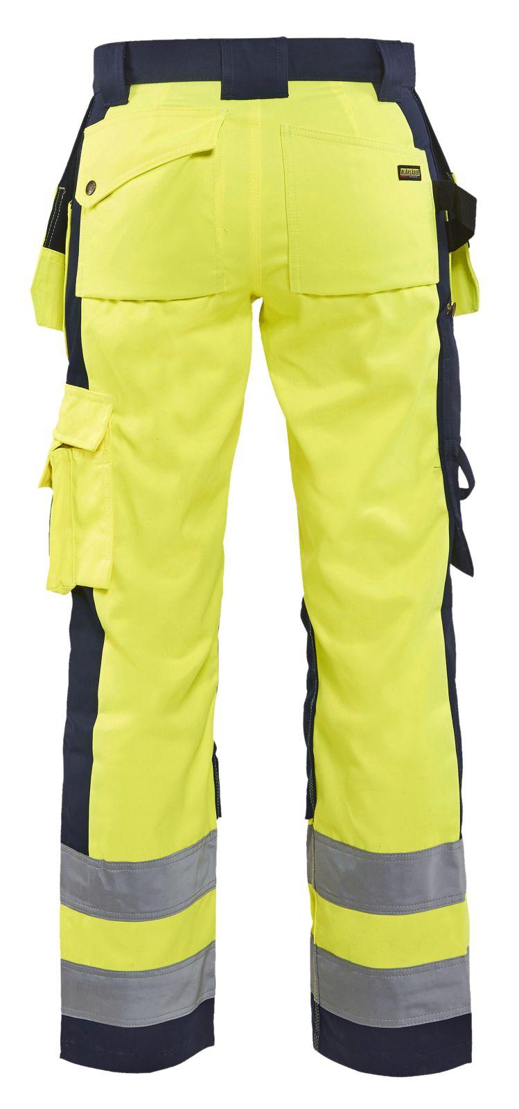 Blaklader Dames werkbroeken 15431804 High Vis geel-marineblauw(3389)