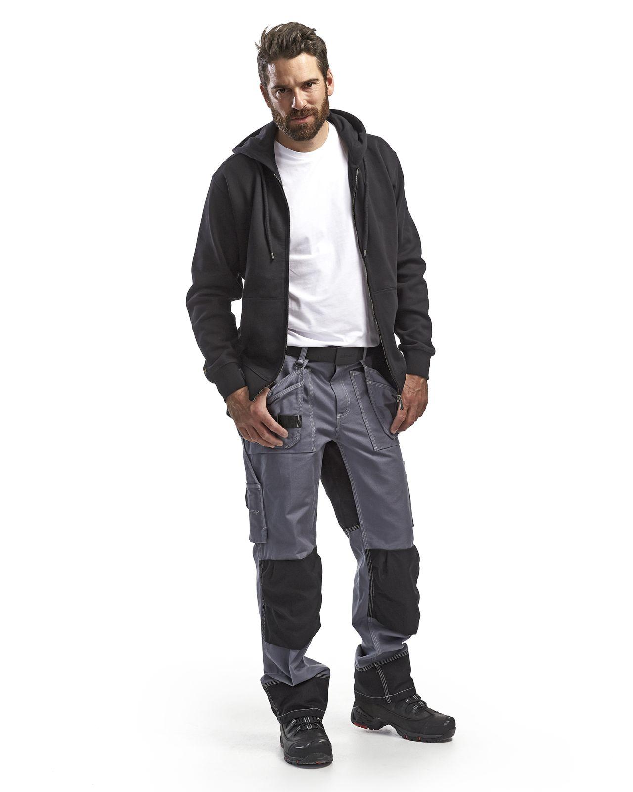 Blaklader Werkbroeken 15501370 grijs-zwart(9499)