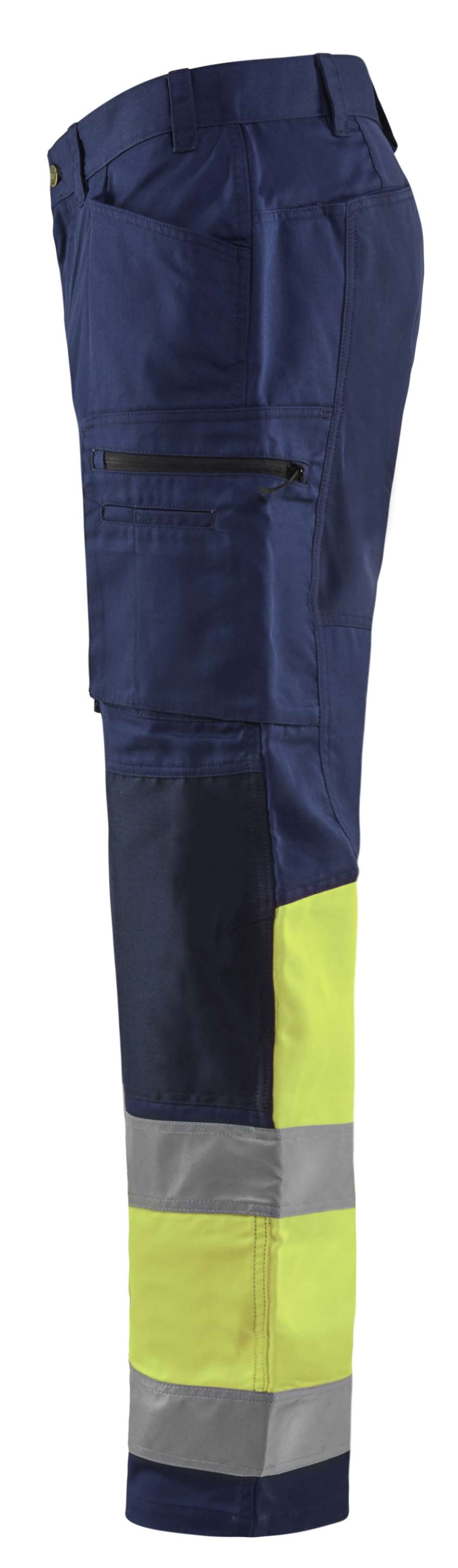 Blaklader Broeken 15511811 High Vis marineblauw-fluo geel(8933)
