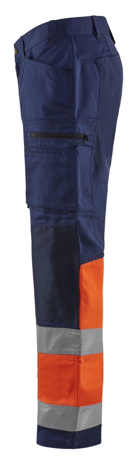 Blaklader Softshell werkbroeken 15511811 High Vis marineblauw-oranje(8953)