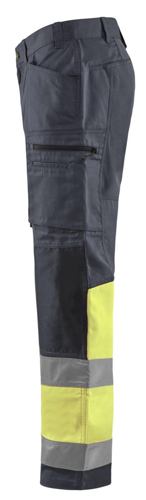 Blaklader Broeken 15511811 High Vis middelgrijs-fluo geel(9633)