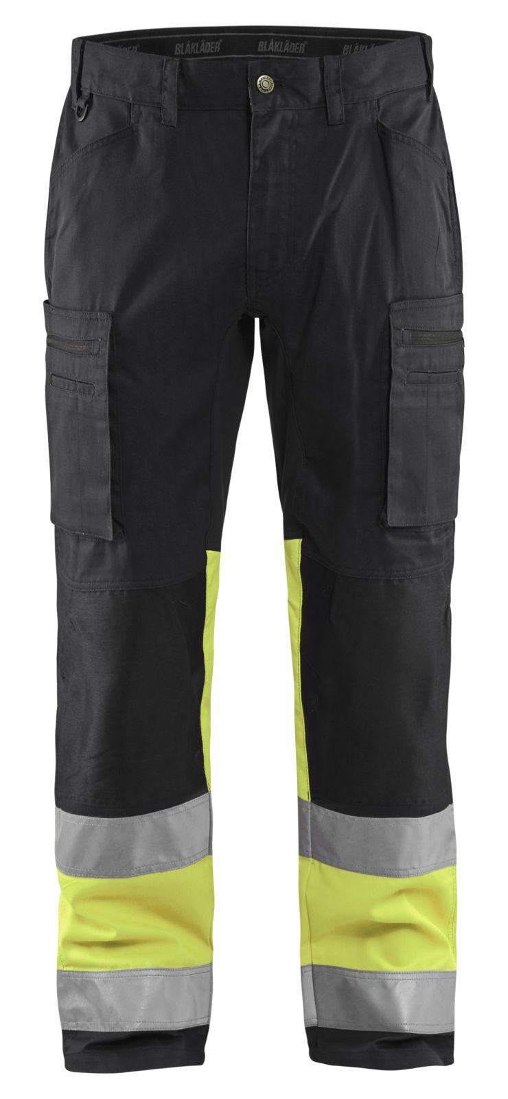 Blaklader Softshell werkbroeken 15511811 High Vis zwart-geel(9933)