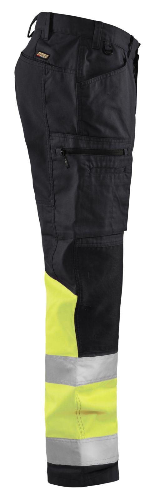 Blaklader Broeken 15511811 High Vis zwart-fluo geel(9933)