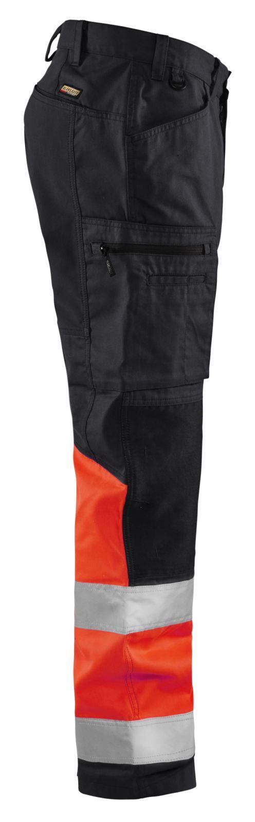 Blaklader Broeken 15511811 High Vis zwart-fluo rood(9955)