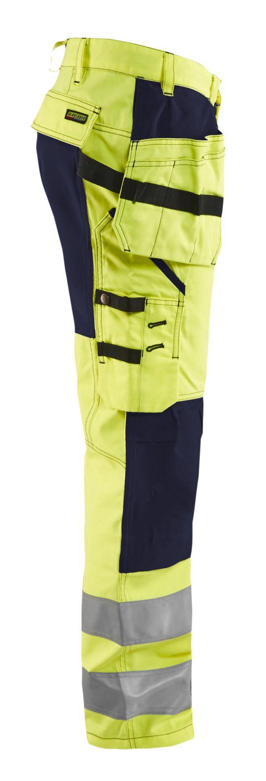 Blaklader Softshell werkbroeken 15521811 High Vis geel-marineblauw(3389)