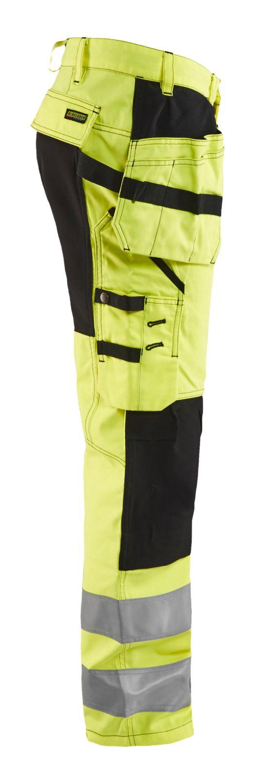 Blaklader Softshell werkbroeken 15521811 High Vis geel-zwart(3399)