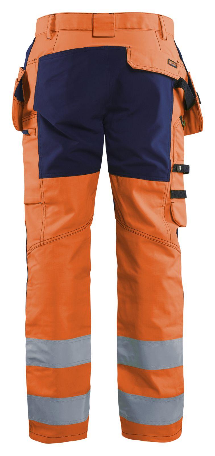 Blaklader Softshell werkbroeken 15521811 High Vis fluo oranje-marineblauw(5389)