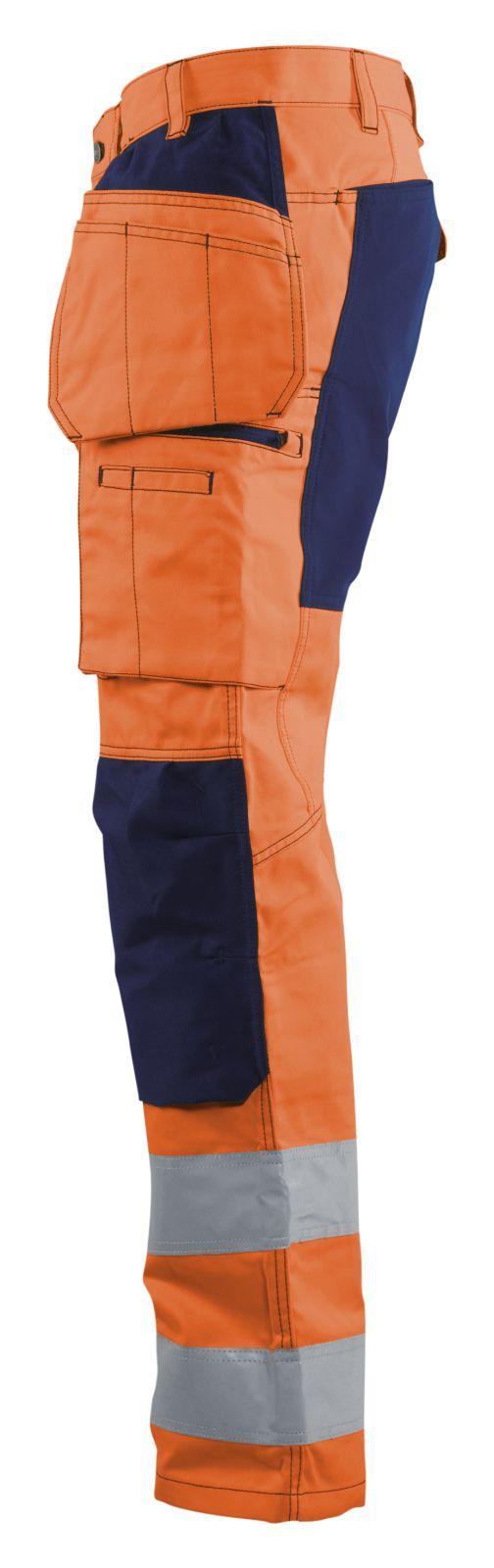 Blaklader Broeken 15521811 High Vis fluo oranje-marineblauw(5389)