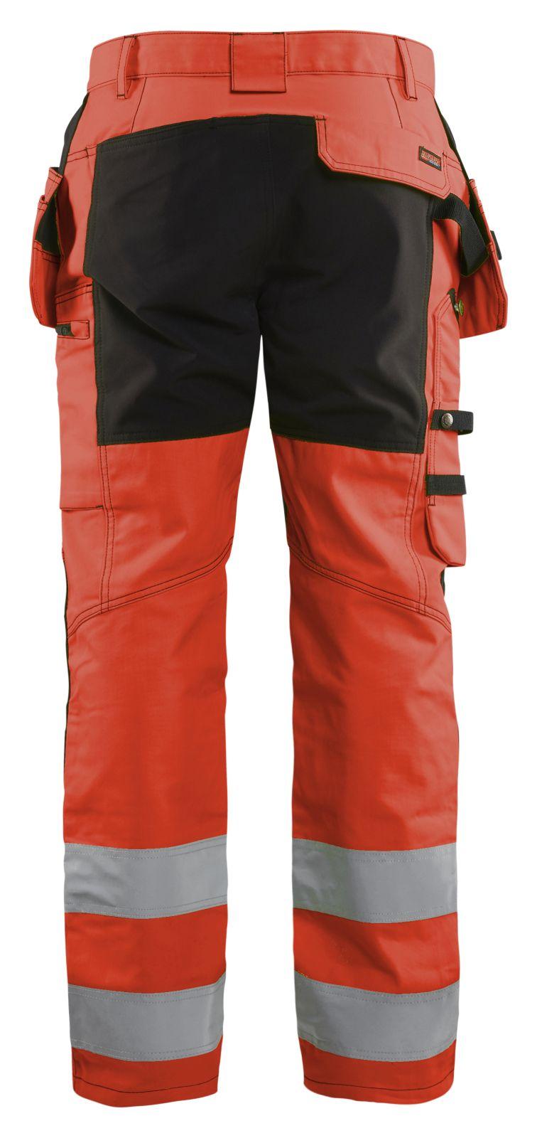 Blaklader Softshell werkbroeken 15521811 High Vis fluo rood-zwart(5599)