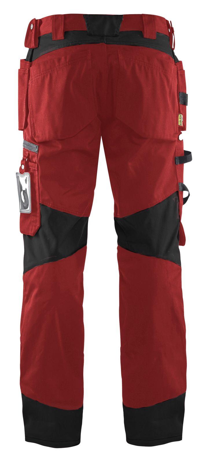 Blaklader Werkbroeken 15551860 rood-zwart(5699)