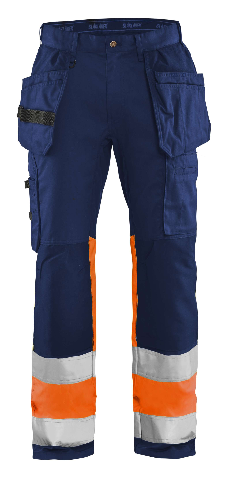 Blaklader Werkbroeken 15581811 High Vis marineblauw- fluo oranje(8953)