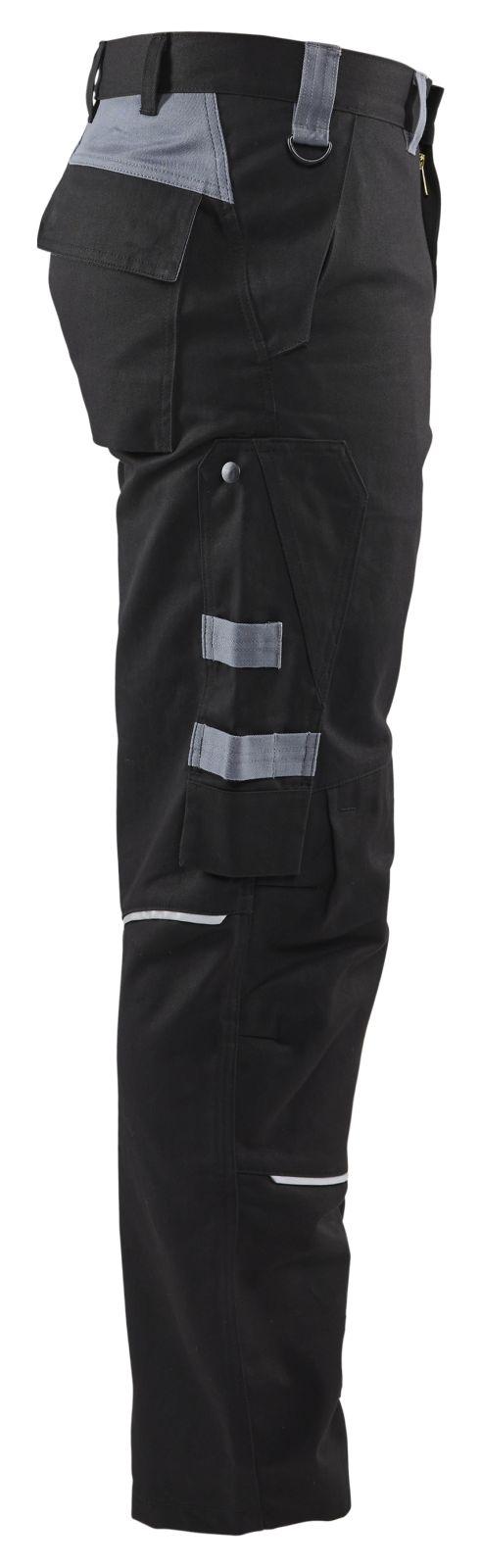 Blaklader Werkbroeken 15611516 Vlamvertragend zwart-grijs(9994)