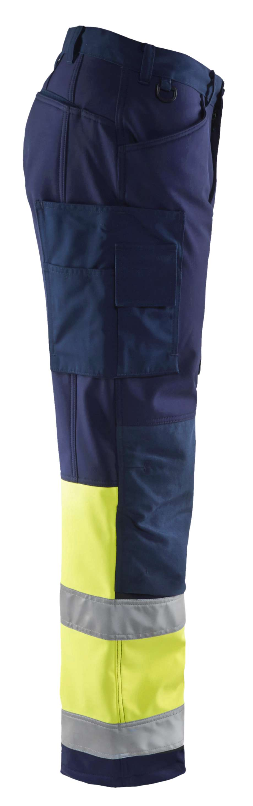 Blaklader Softshell werkbroeken 15622517 High Vis marineblauw-geel(8933)