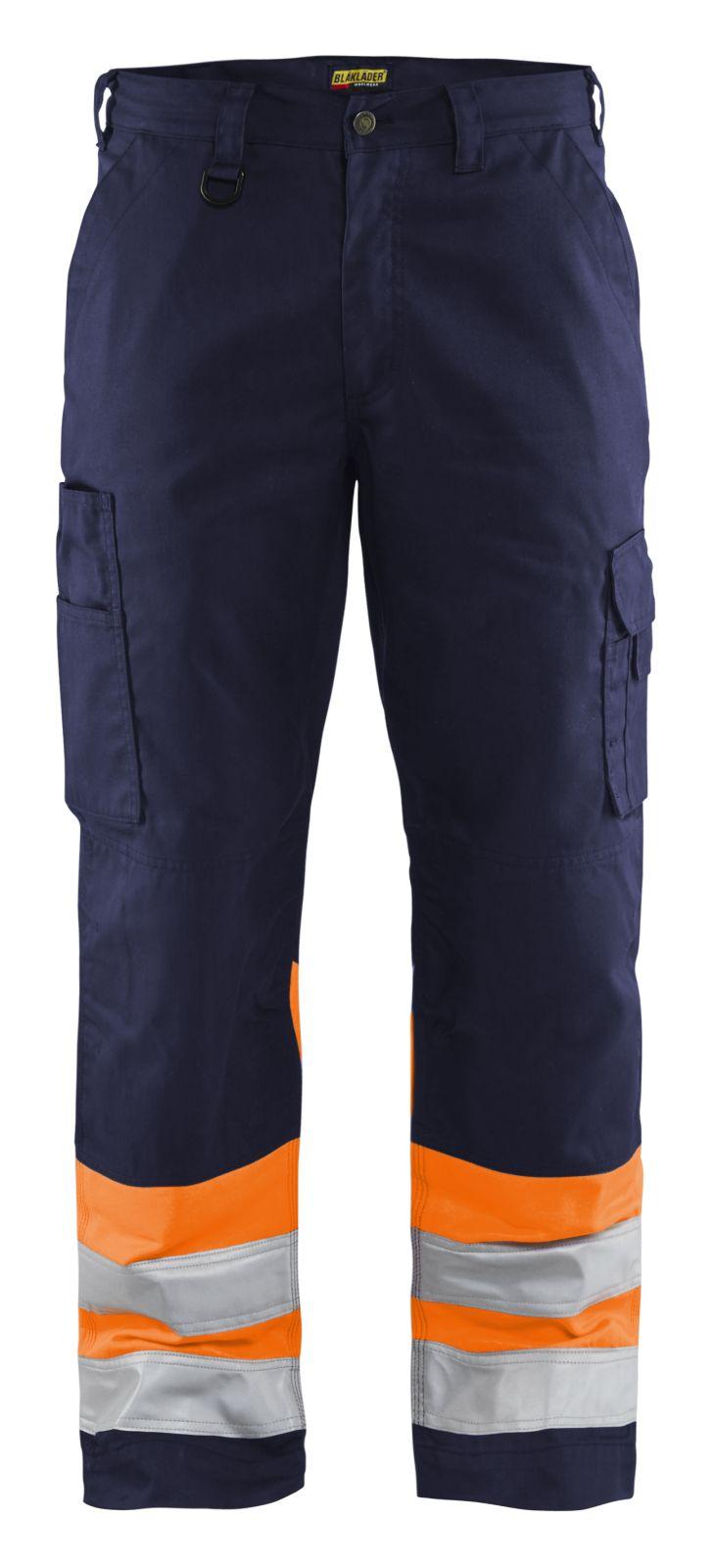 Blaklader Werkbroeken 15641811 High Vis marineblauw-oranje(8953)