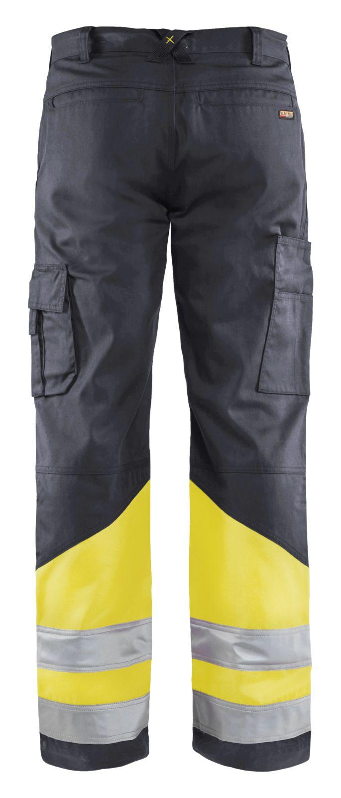 Blaklader Broeken 15641811 High Vis middelgrijs-fluo geel(9633)