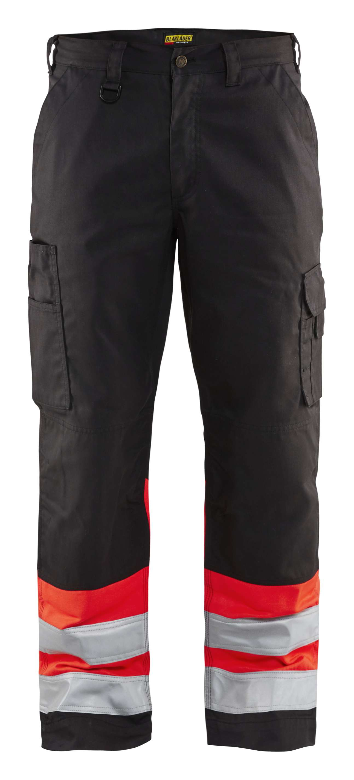 Blaklader Werkbroeken 15641811 High Vis zwart-fluor rood(9955)