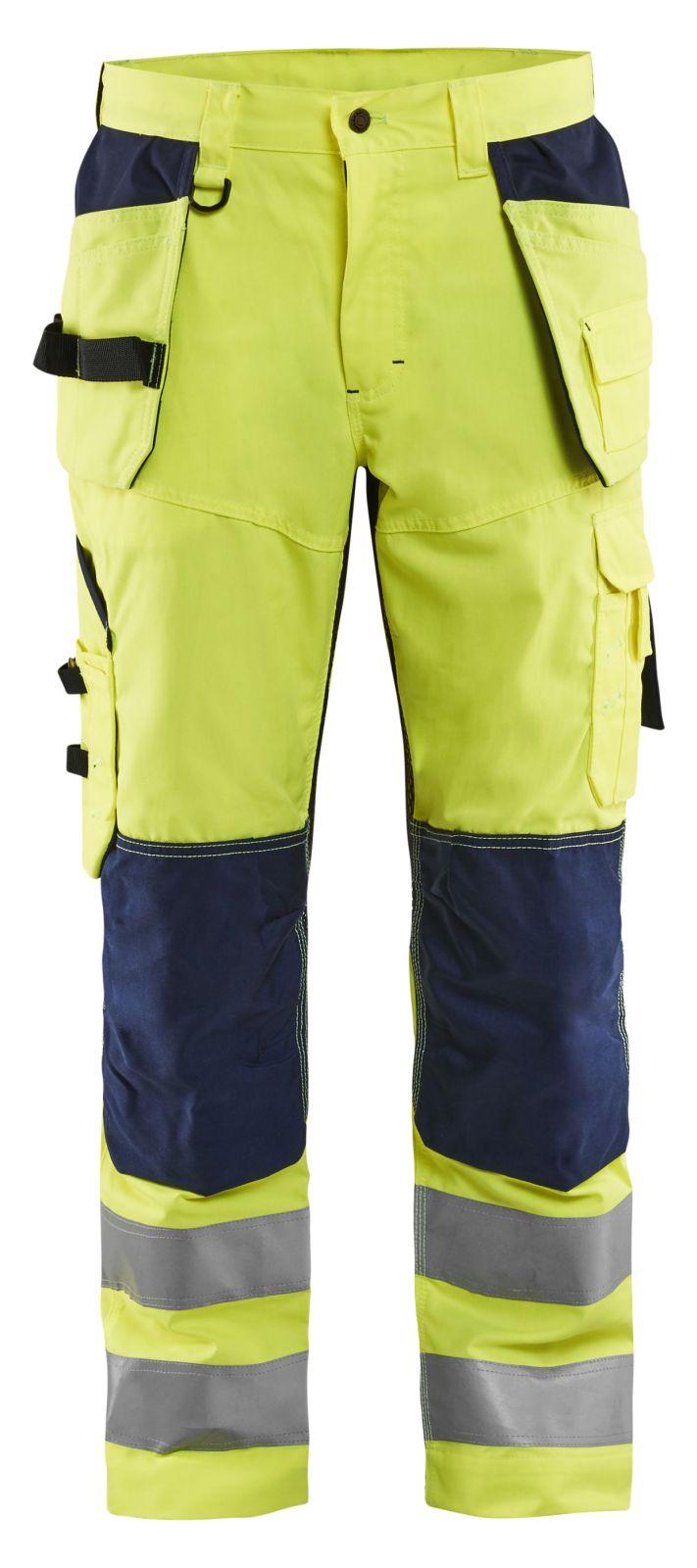 Blaklader Werkbroeken 15651811 High Vis geel-marineblauw(3389)