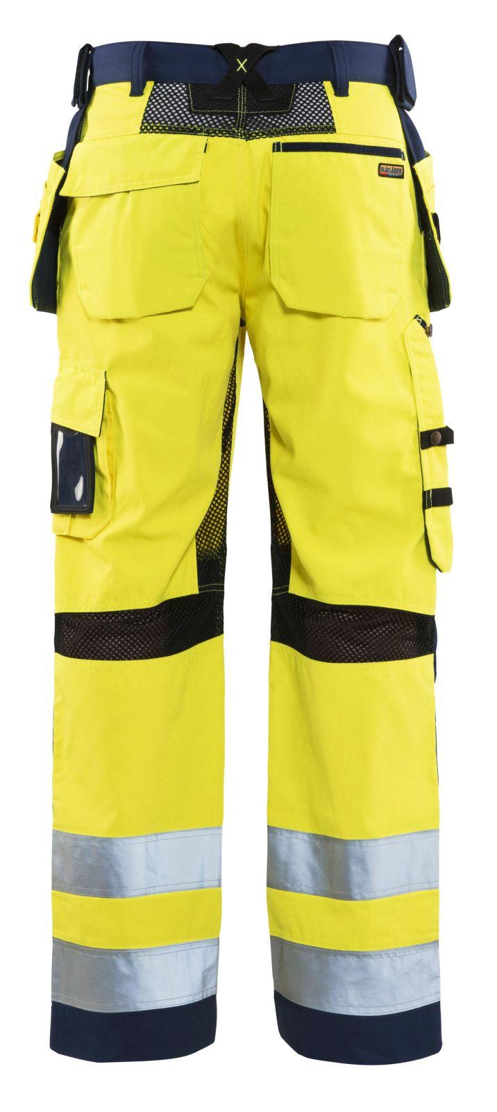 Blaklader Broeken 15651811 High Vis fluo geel-marineblauw(3389)