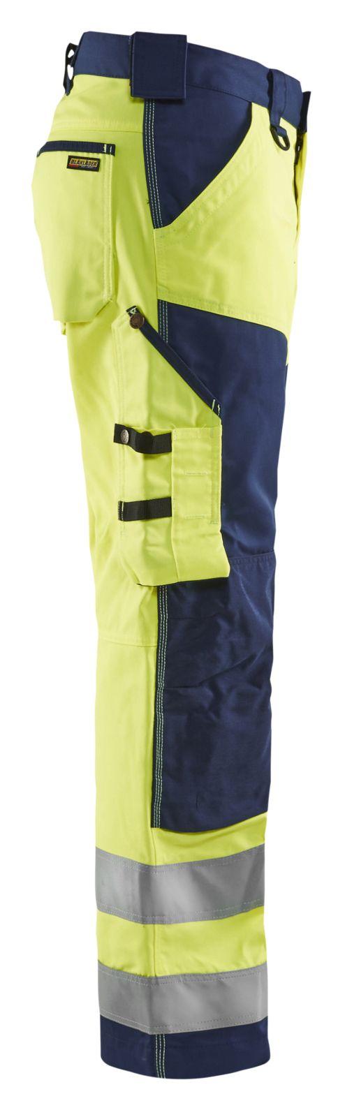 Blaklader Werkbroeken 15661811 High Vis geel-marineblauw(3389)