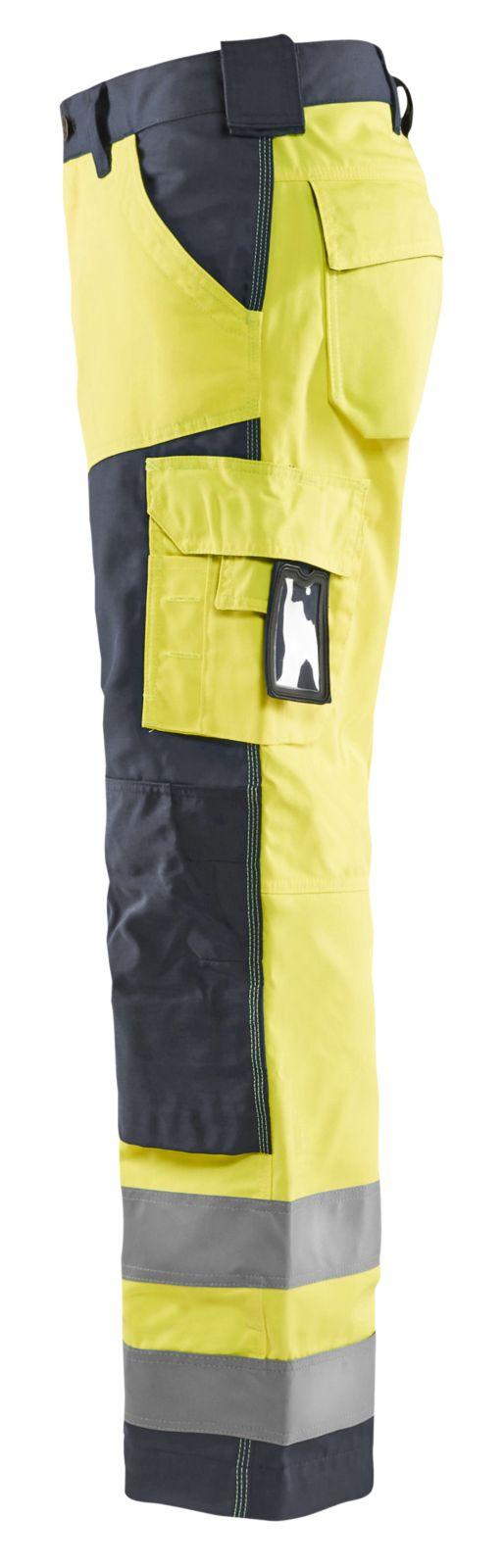 Blaklader Broeken 15661811 High Vis fluo geel-middelgrijs(3396)