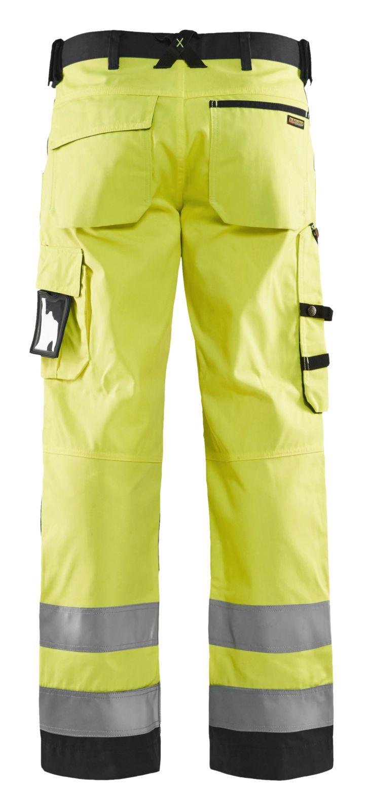 Blaklader High visual ISO 20471 Werkbroeken- kniezakken 15661811 Polyester- katoen- Cordura fluo geel-zwart(3399)