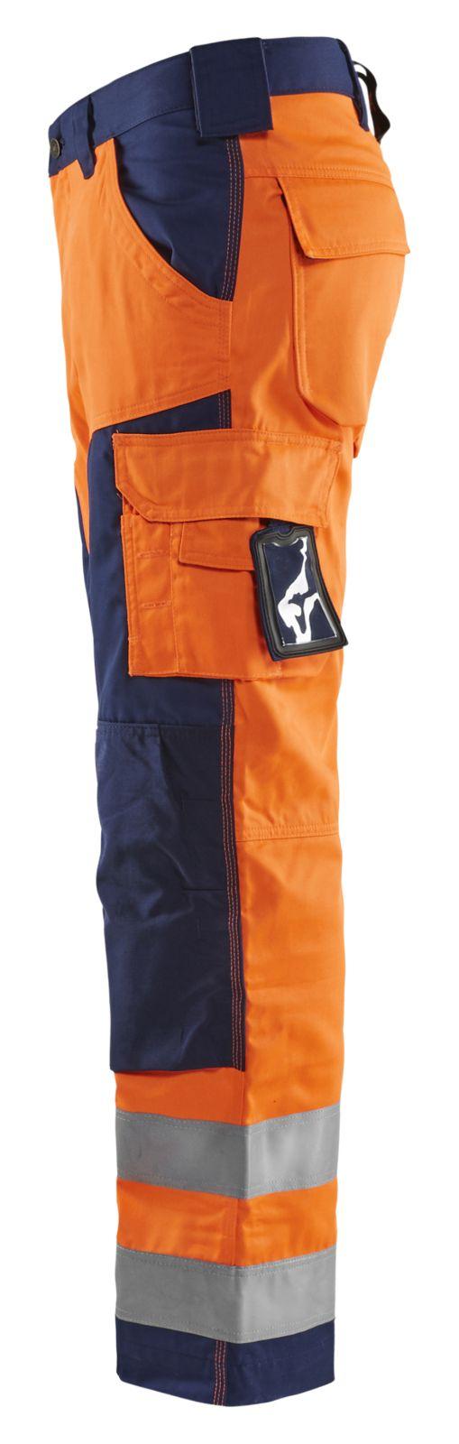 Blaklader Werkbroeken 15661811 High Vis oranje-marineblauw(5389)