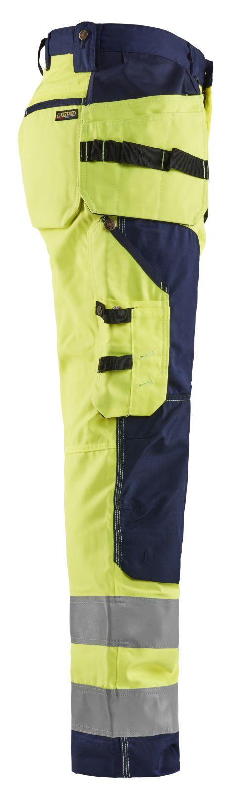 Blaklader Werkbroeken 15681811 High Vis geel-marineblauw(3389)