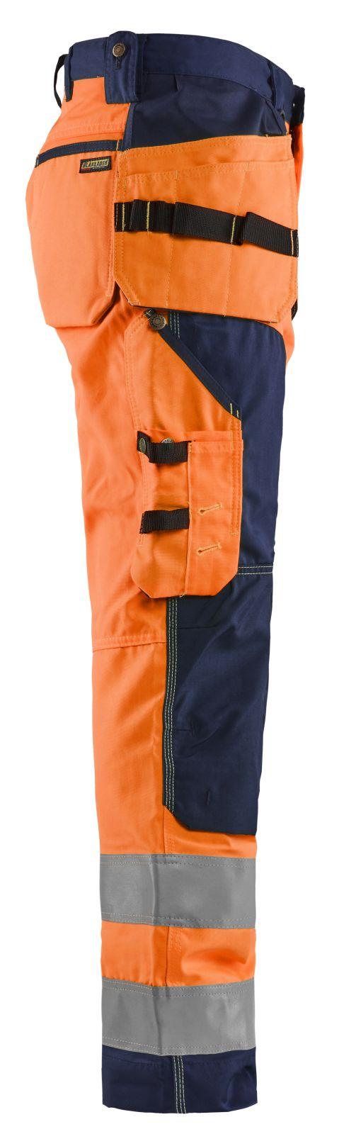 Blaklader Werkbroeken 15681811 High Vis oranje-marineblauw(5389)