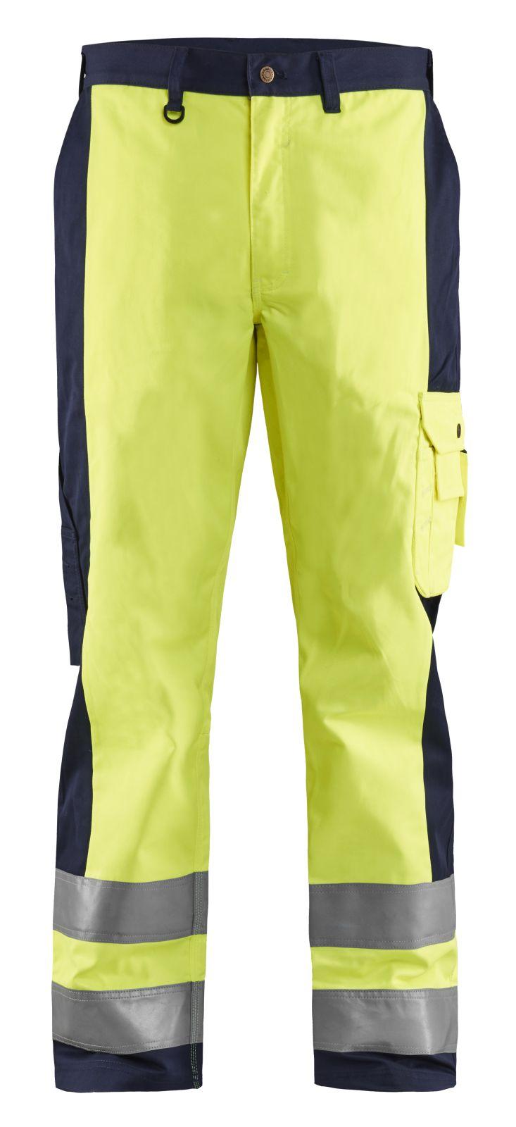 Blaklader Werkbroeken 15831860 High Vis geel-marineblauw(3389)