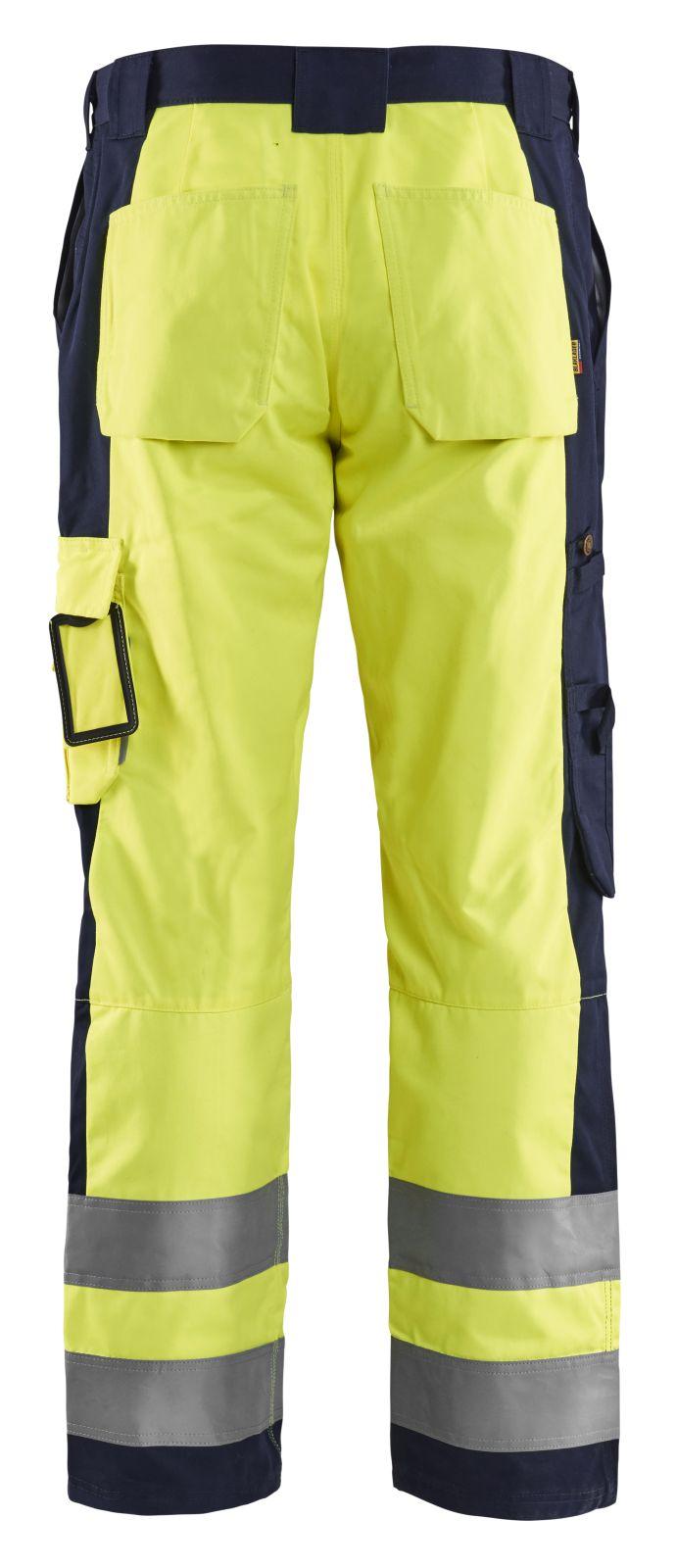 Blaklader Broeken 15831860 High Vis geel-marineblauw(3389)