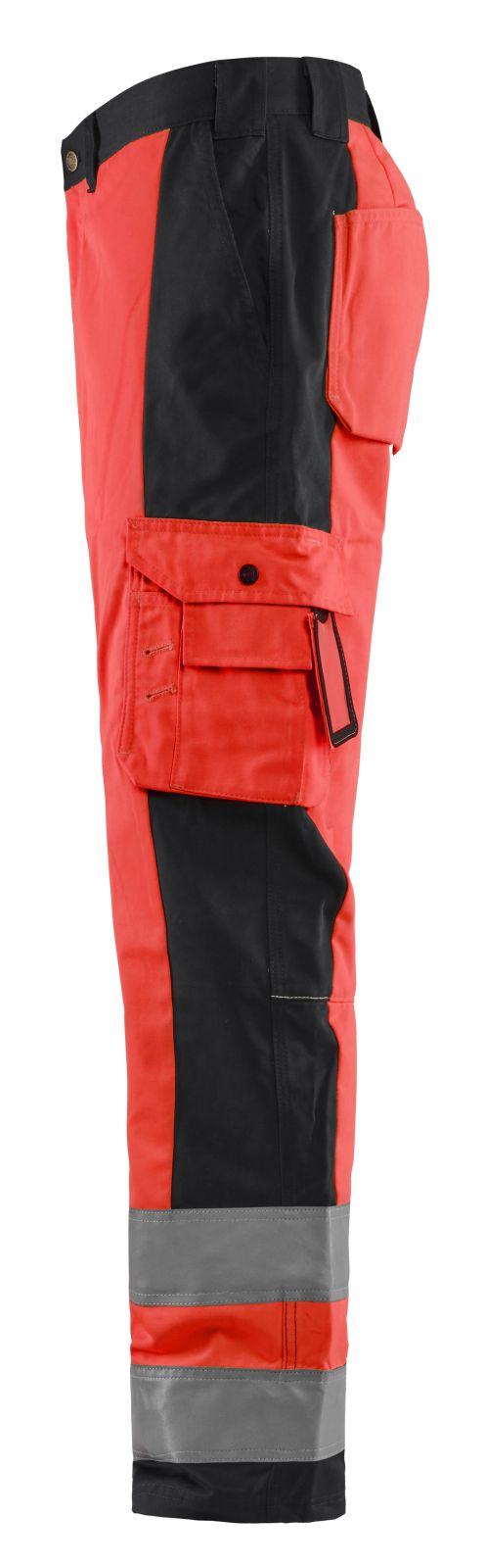 Blaklader Werkbroeken 15831860 High Vis fluo rood-zwart(5599)