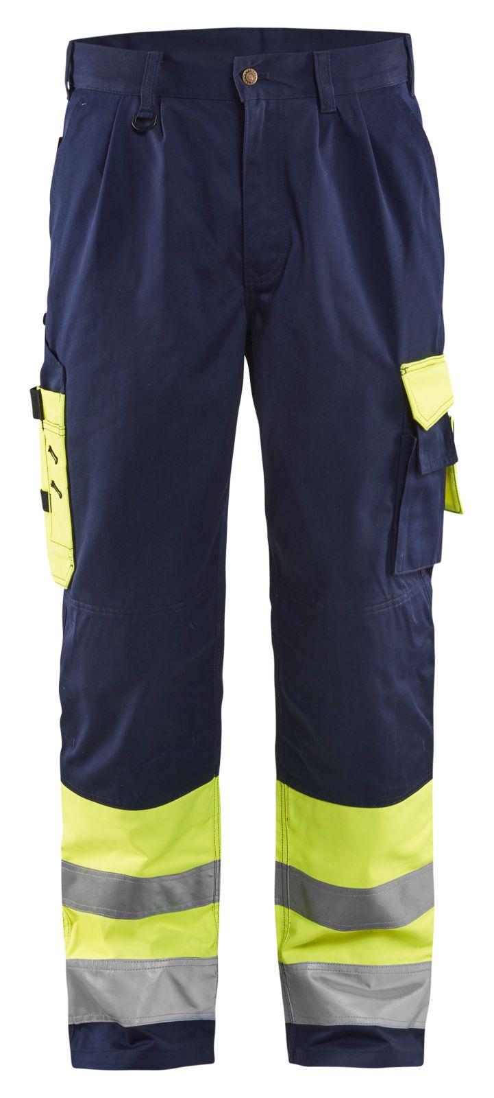 Blaklader Werkbroeken 15841860 High Vis geel-marineblauw(3389)