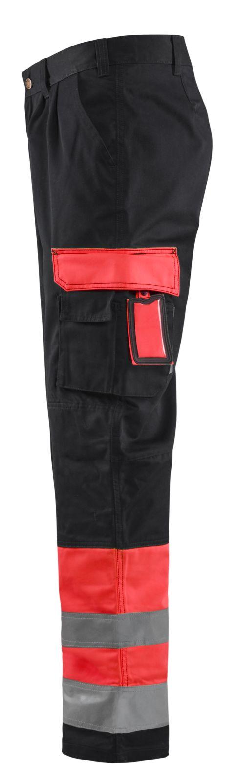Blaklader Werkbroeken 15841860 High Vis rood-zwart(5599)
