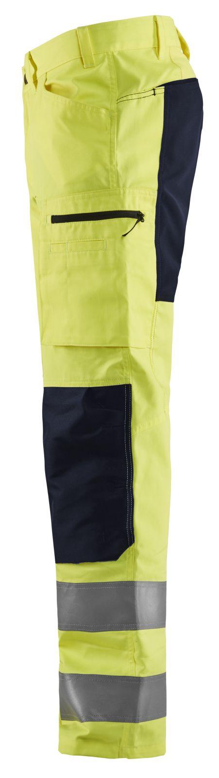 Blaklader Broeken 15851811 fluo geel-zwart(3399)