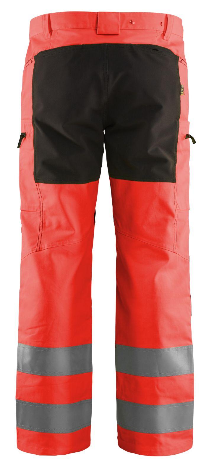 Blaklader Broeken 15851811 fluo rood-zwart(5599)